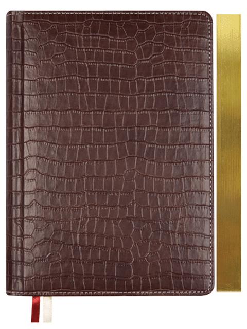 """Ежедневник датированный 2021, A5, deVENTE """"Wild"""" 352 стр., иск. кожа, срез золотой, 145х205 мм, коричневый"""
