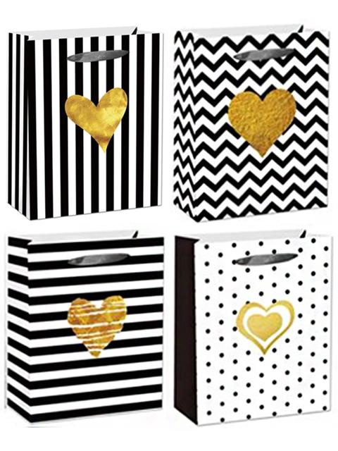 """Пакет подарочный бумажный 18х23х10 """"Золотое сердце"""""""