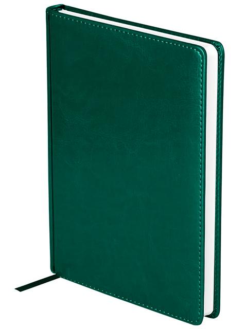 """Ежедневник недатированный А5 136 листов OfficeSpace """"Nebraska"""" обложка кожзам, зеленый"""