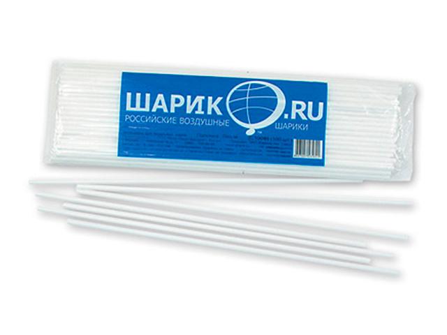 Палочки для шариков Белые 100 штук в упак.
