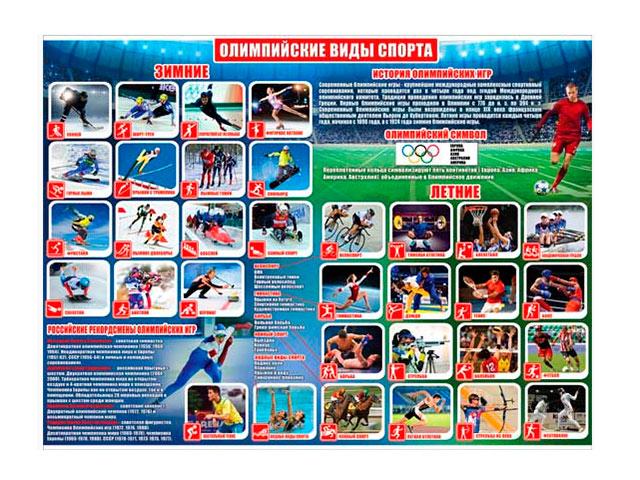 "Плакат А2 ""Олимпийские виды спорта"" [Р2-274]"