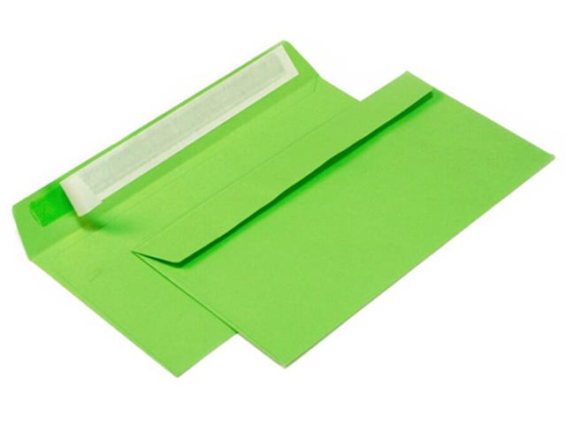 Конверт 114*229 мм силикон, зеленый