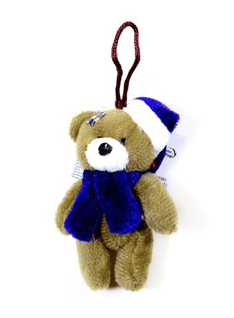 Игрушка мягкая Мишка в карнавальной шляпе, 9см, текстиль