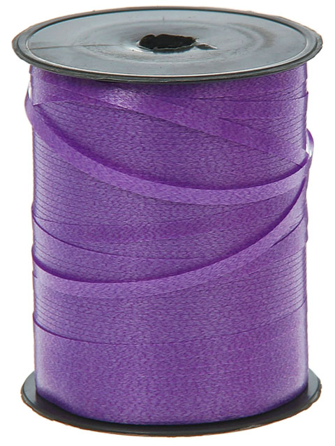 Лента декоративная 0,5см.х500м. фиолетовая