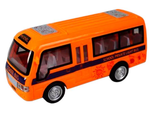 """Машина инерционная """"Школьный автобус"""" 18 см, пластик, в пакете"""