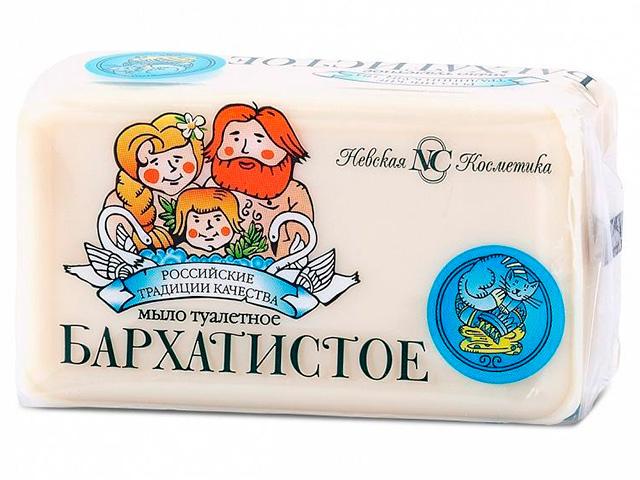 """Мыло туалетное Невская косметика """"Бархатистое"""", 140г"""