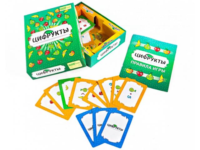 "Игра карточная ""Цифрукты"" 100 карточек (Wunderkind Games), 7+"