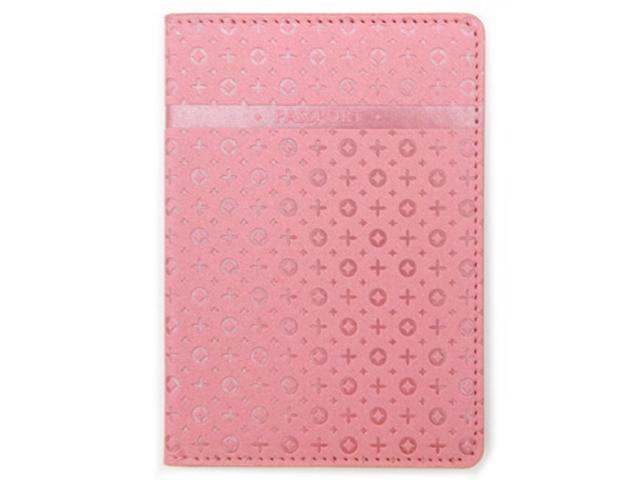 """Обложка для паспорта Intelligent """"PASSPORT"""" к/зам, розовый мерцающий"""