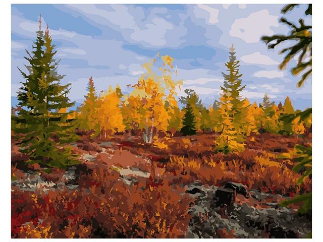 "Картина по номерам Colibri ""Осень в лесу"" 40*50см"