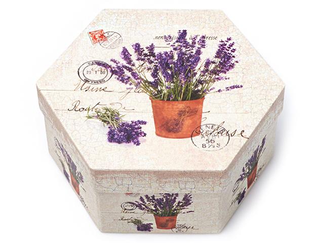 """Коробка подарочная многоугольная """"Цветы"""" 18,5х16"""