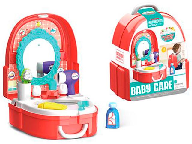 """Игровой набор """"Ванная"""" 16 предметов, в пластиковом рюкзаке"""