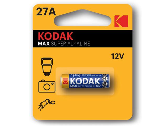 Батарейка алкалиновая Kodak 27А-1BL (1 шт) блистер, кор. (60 уп)