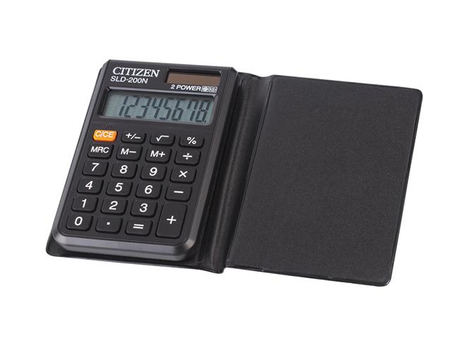 Калькулятор карманный CITIZEN SLD-200NR 8 разр. двойное питание