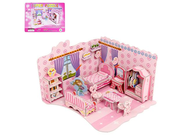 "Игрушка-конструктор ""Комната принцессы"" пазл 3D"