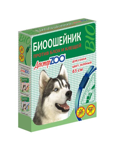Доктор ZOO БИОошейник для собак от блох и клещей 65 см, синий