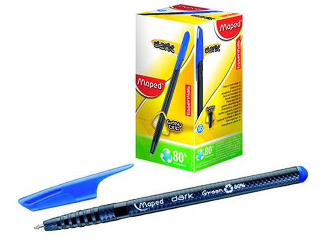 "Ручка шариковая Maped ""Green dark"" 0,6 мм, корп. треугол. пластик., синяя"