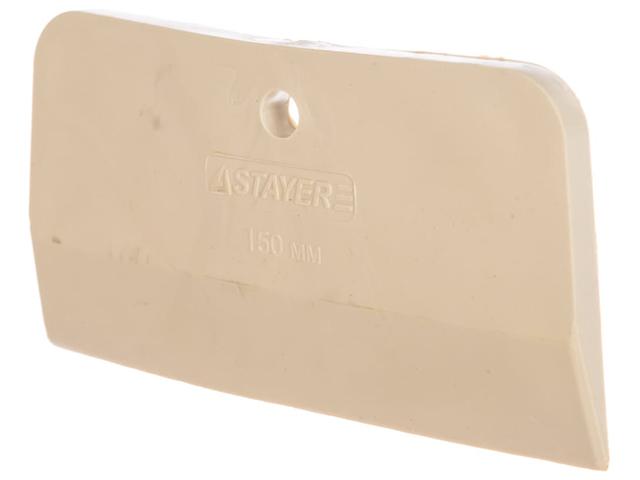 Шпатель STAYER  резиновый белый 150мм,