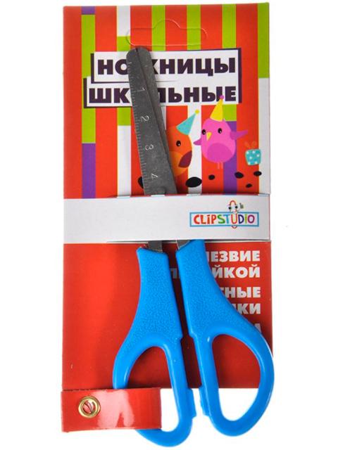 Ножницы детские ClipStudio 13 см, с линейкой