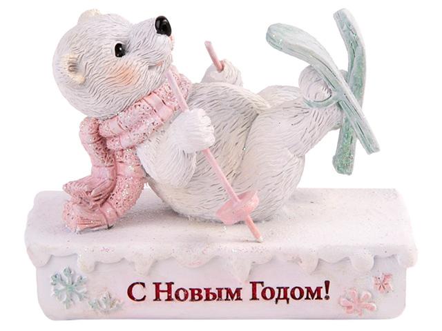 "Фигурка декоративная ""Медведь-лыжник"" 8х4х6 см"