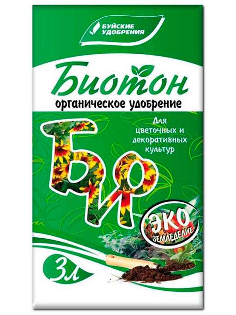 Биотон 3л. Органическое удобрение для цветочных и декоративных культур