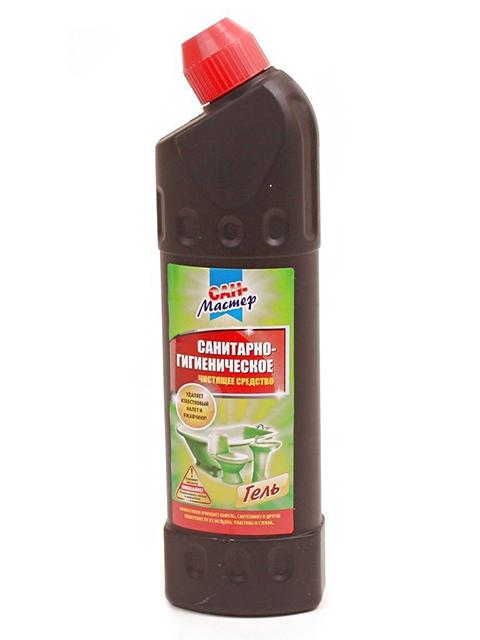 """Гель """"Сан-Мастер"""" санитароно-гигиеническое средство 750 мл (черная бутылка) утенок"""