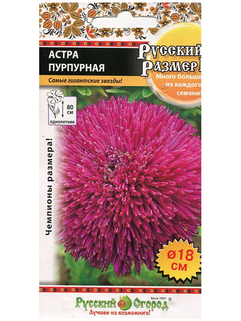 Астра Пурпурная, ц/п, 0,2 г, Русский размер II