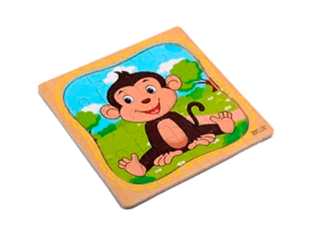 """Пазл- рамка для малышей """"Обезьянка"""" 16 элементов. 15х15 см"""