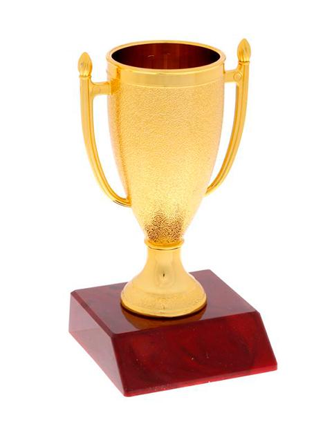 Кубок спортивный 103 Золото, 12х6,5х6,5 см, пластик
