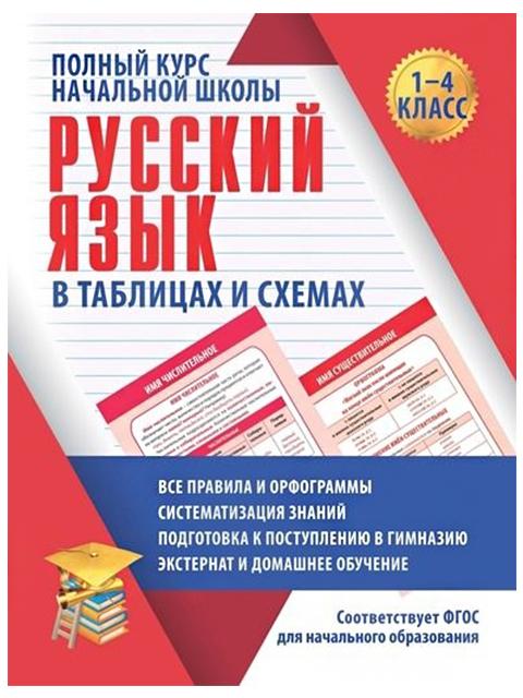 """Книга А5 """"Русский язык. Полный курс начальной школы в таблицах и схемах"""" 1-4 класс  (6 +)  /УЧ.СП./"""
