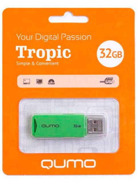Флэш-диск QUMO 32 Gb Tropic Green