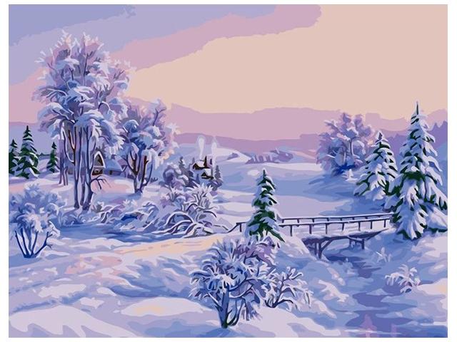"Картина по номерам Colibri ""Зимний пейзаж"" 40*50см"