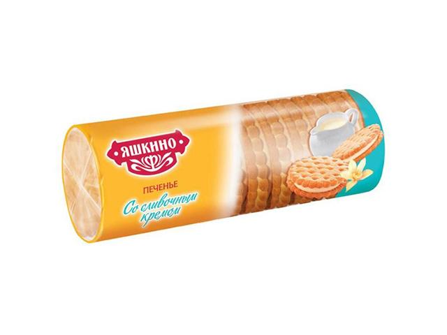 Печенье затяжное Яшкино 182 г со сливочным кремом