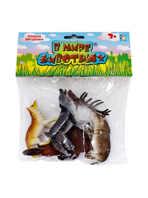 """Игровой набор """"В мире животных. Дикие животные России"""" 5 штук в упаковке"""