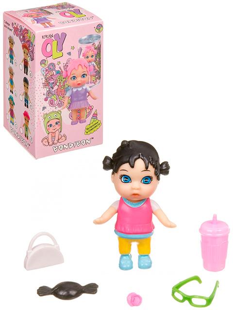 Куколка в банке, с париком и аксессуарами, в коробке