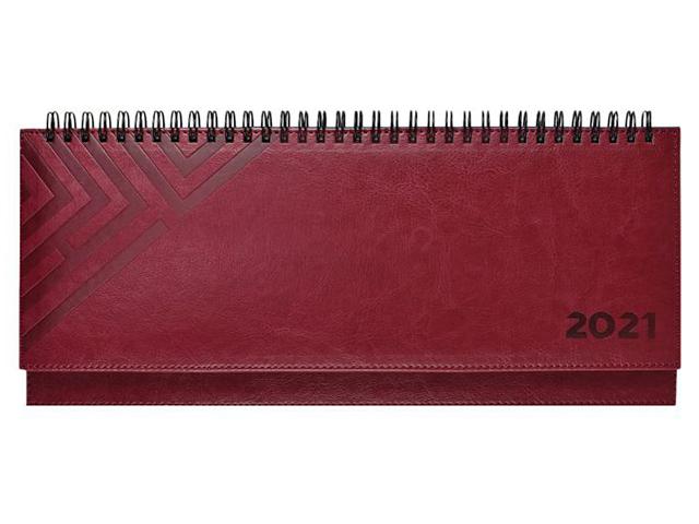 """Планинг датированный 64 листа Феникс+ """"Escalada. Сариф 2021"""" тверд. переплет, бордовый, евроспираль"""