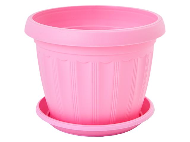 """Кашпо """"Терра 14"""" с поддоном, розовый"""