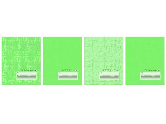 "Тетрадь А5 12 листов, клетка Академия Холдинг ""Текстура лайм"", на скрепке"