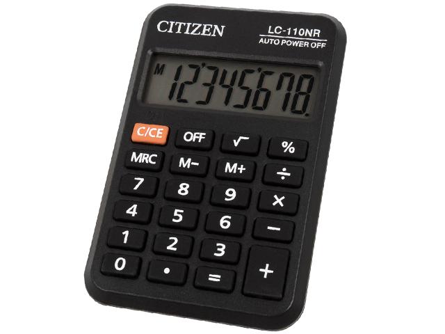 Калькулятор карманный CITIZEN LC-110NR 8 разрядный