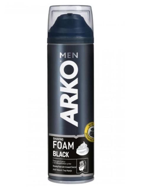"""Пена для бритья ARKO """"Foam Black"""" с активированным углем, 200 мл/194г"""