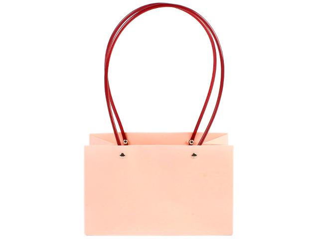 "Пакет подарочный ""Нежный"" крафт, 22х11х14 см, однотонный розовый"