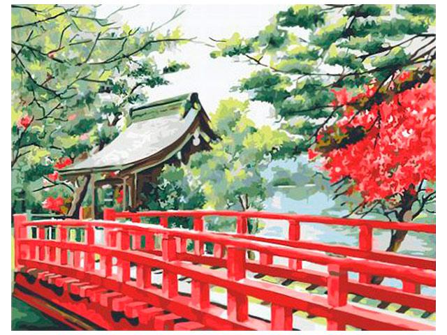 """Картина по номерам PaintBoy """"Японский мостик"""" 40*50см"""