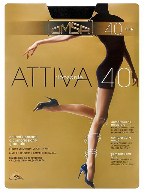 """Колготки женские Omsa """"Attiva 40"""" Nero XL"""
