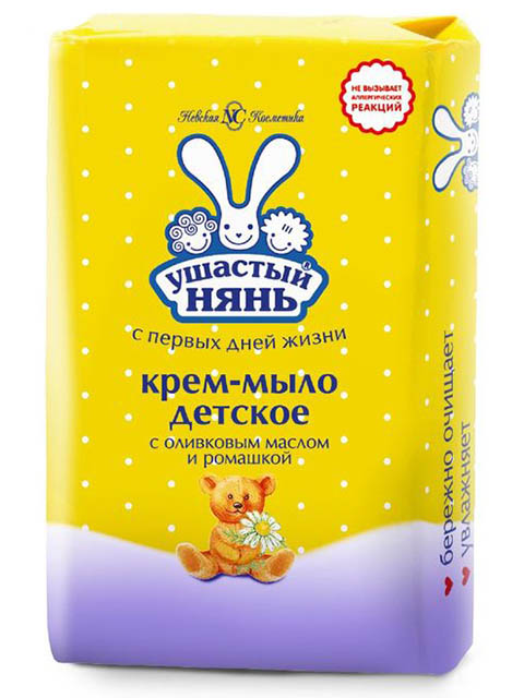 """Крем-мыло детское """"Ушастый нянь с оливковым маслом и ромашкой"""", 90 г"""