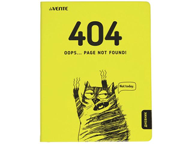 """Дневник универсальный deVENTE """"404 OOPS...PAGE NOT FOUND"""" твердая обложка, искусственная кожа"""