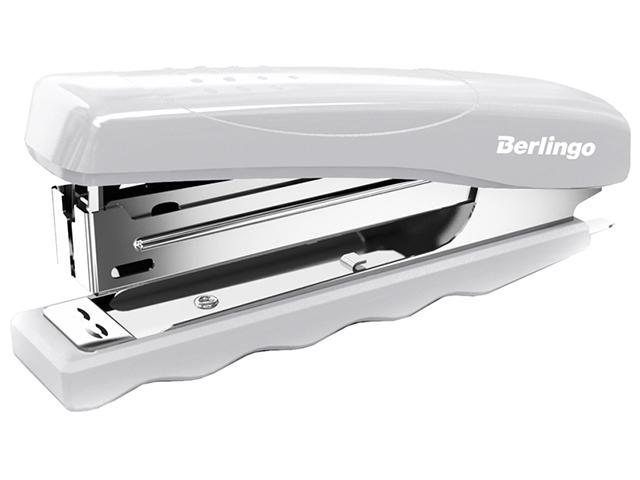 """Степлер Berlingo """"Comfort"""" №10, до 16 листов, пластиковый, серый"""