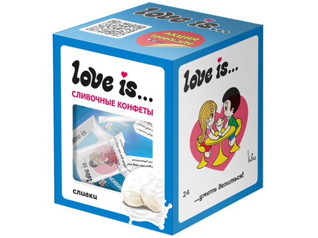 """Конфеты жевательные """"Love is"""" 105 г, сливки"""