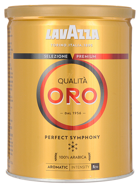 "Кофе молотый LAVAZZA ""Qualita Oro"", натуральный 250г, жестяная банка"