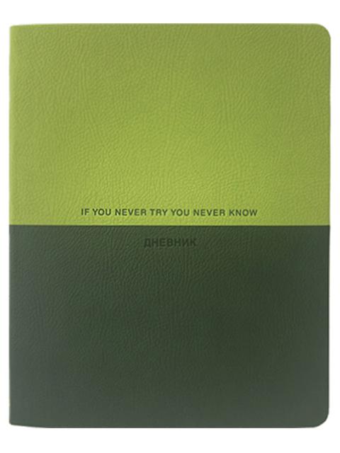"""Дневник универсальный deVENTE """"If you never try you never know"""" интегральная обложка, искусственная кожа"""