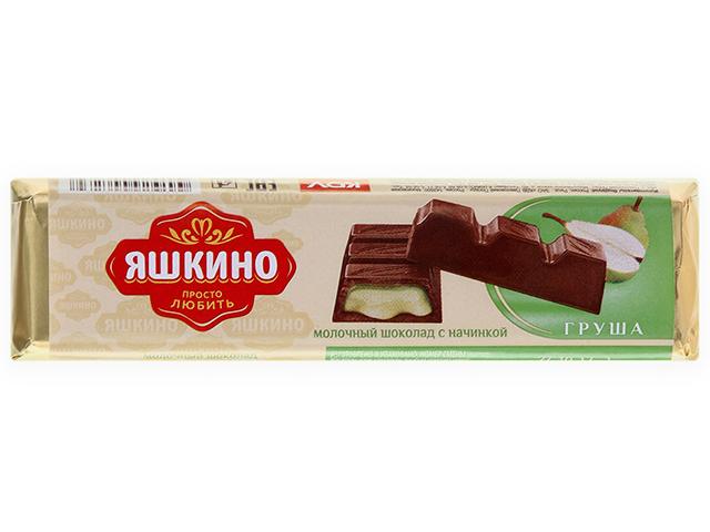 Шоколад Яшкино 50 г молочный с грушевой начинкой