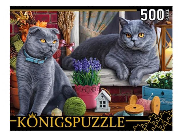 """Пазлы 500 элементов 345х500 Рыжий кот """"Konigspuzzle. Британские коты"""""""
